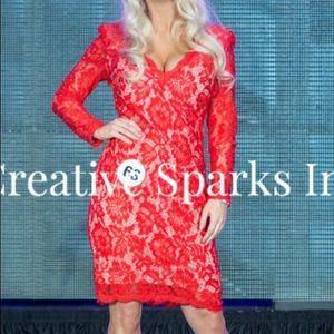 Jovani Red Lace Cocktail dress